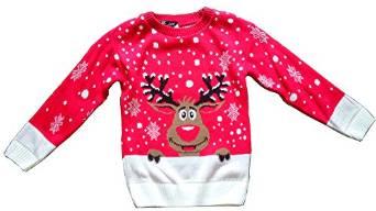 Julesweater med Rudolf i rød til børn