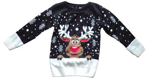 Julesweater med Rudolf til børn_