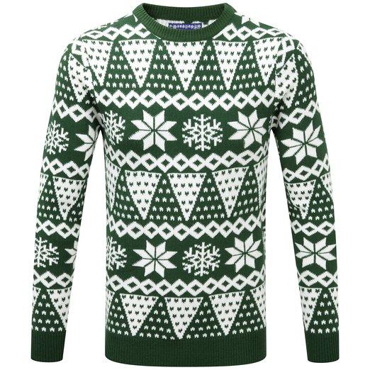 Grøn julesweater