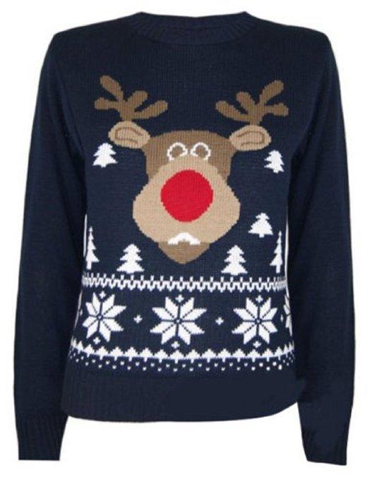 Klassisk Rudolf julesweater