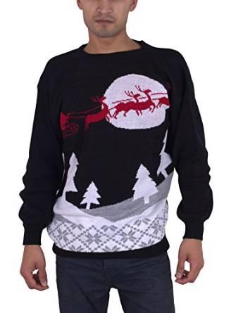 Klassisk julesweater med julemandens kane