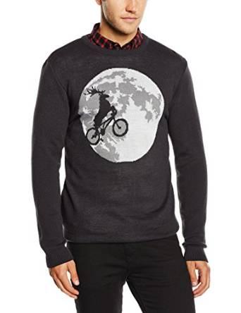 Rudolf på cykel herover månen