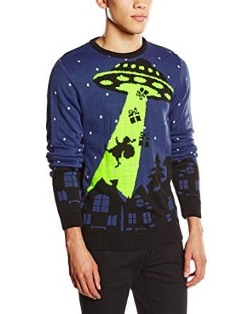 UFO suger Julemanden op - Julesweater