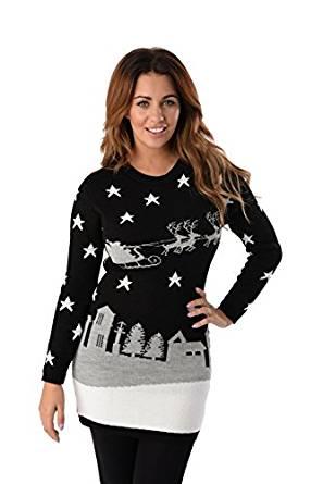 Lang julesweater med sparkling