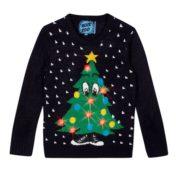 Julesweater med funky juletræ til børn