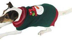 Julesweater til hunde i grøn