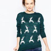 Dansende rensdyr på julesweater