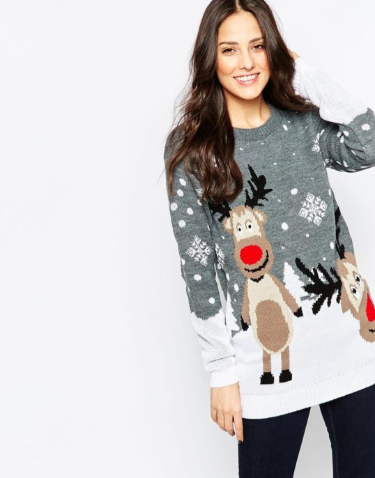 Grå rensdyrs julekjole