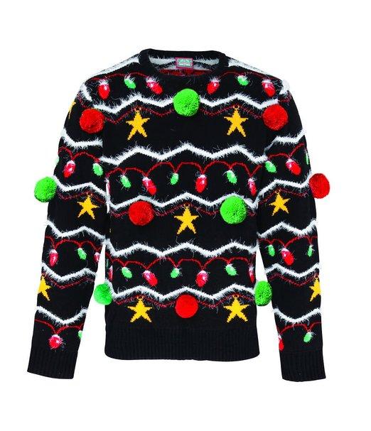 3d Julesweater med juledekoration
