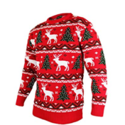 Rød julesweater med motiv