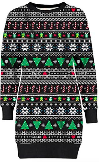 Slikstave Julesweater Kjolen Juletræer Med Og Snefnug R5Wa7wq