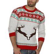 Hvid julesweater - Unisex