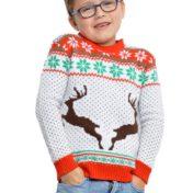 Hvid julesweater børn
