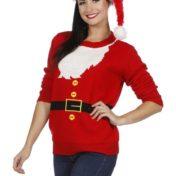 Julesweater med julemandsskæg