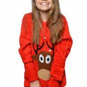 Rød julesweater børn